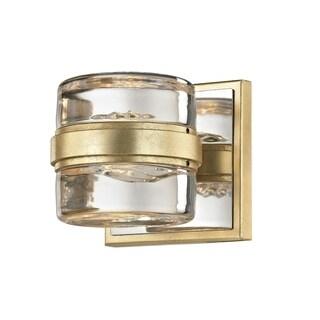 Troy Lighting Splash 1-light Gold Leaf/Polished Chrome Accents LED Bath/Wall Sconce