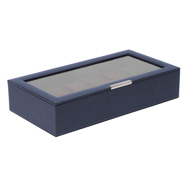 WOLF Stackable 12 Piece Watch Tray with Lid
