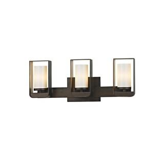Troy Lighting Escape 3-light Bronze/Gold Leaf LED Bath/Wall Sconce