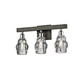 Troy Lighting Citizen 3-light Graphite/Polished Nickel Bath/Wall Sconce