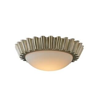Troy Lighting Reese Silver Leaf 15-inch LED Flush Mount