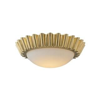 Troy Lighting Reese Gold Leaf 15-inch LED Flush Mount
