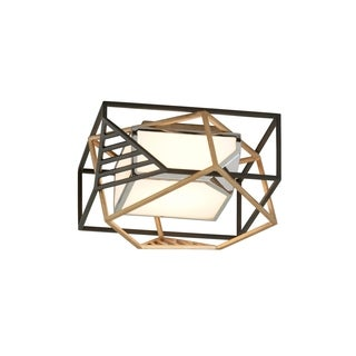 Troy Lighting Cubist Bronze/Gold Leaf/Polished Stainless LED Flush Mount