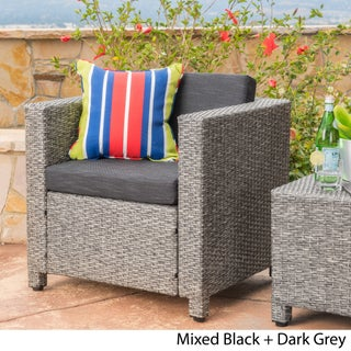 Puerta Outdoor Wicker Club Chair with Cushions by Christopher Knight Home (2 options available)