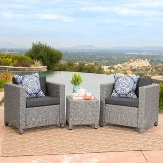 Puerta Outdoor 3-piece Wicker Seating Set with Cushions by Christopher Knight Home|https://ak1.ostkcdn.com/images/products/15631273/P22063052.jpg?impolicy=medium