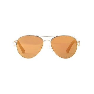 Otree Terni Aviator Unisex Cork Goldtone Frame with Brown Lens Sunglasses