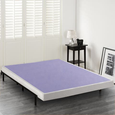 Priage by Zinus 4 inch Wood Box Spring Mattress Foundation