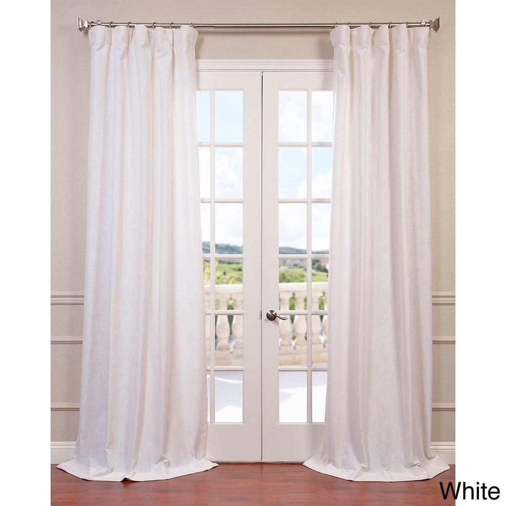 "Exclusive Fabrics Heavy Faux Linen Curtain Panel 108""L (A..."