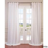 "Exclusive Fabrics Heavy Faux Linen Curtain Panel 108""L in White (As Is Item)"