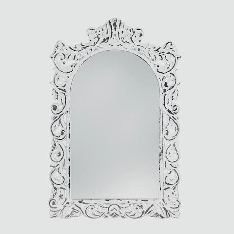 Berkley Antique-Style White Mirror - Antique White