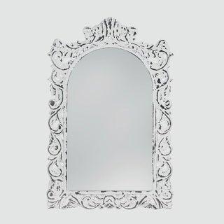 Berkley Antique-Style White Mirror