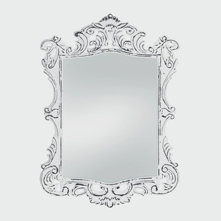 Royal Antique-Style White Wall Mirror