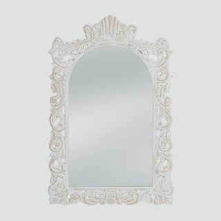 Wilton Antique-Style White Mirror
