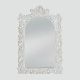 Wilton Antique-Style White Mirror