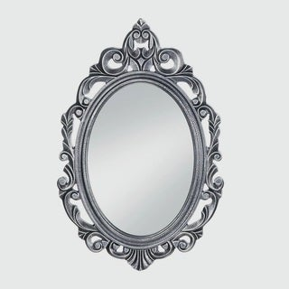 Imperial Regal Silver Oval Wall Mirror