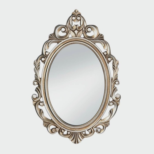 imperial regal gold oval wall mirror