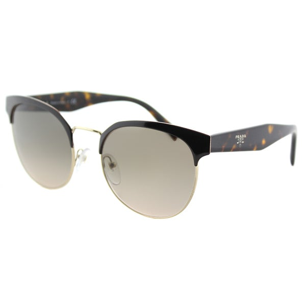 6e6169ddde9fe Prada PR 61TS DHO3D0 Brown And Gold Metal Square Sunglasses Brown Gradient  Lens