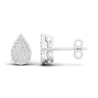 Link to De Couer IGI Certified 1/6ct TDW Diamond Cluster Earrings - White Similar Items in Earrings