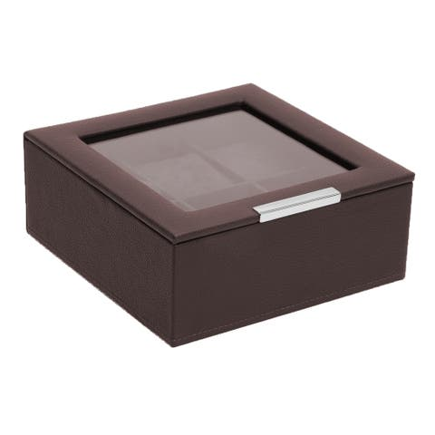 WOLF Stackable 6 Piece Watch Tray with Lid