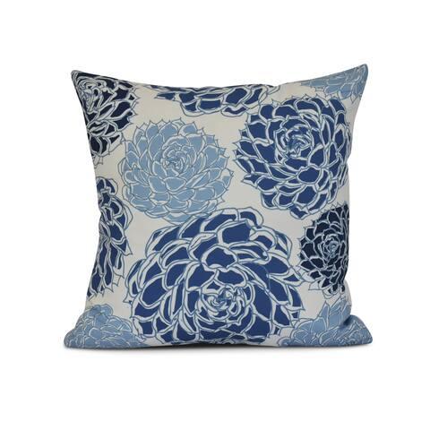 Olivia Floral Print Outdoor Pillow