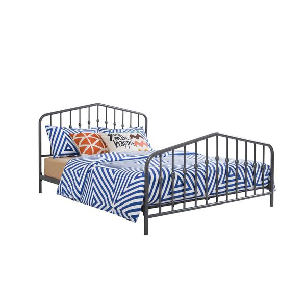 novogratz bushwick queen grey metal bed free shipping today