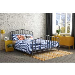 Novogratz Bushwick Queen Grey Metal Bed