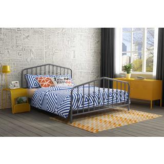 Novogratz Bushwick Grey Metal Bed