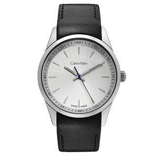 Calvin Klein Men's Bold Stainless Steel Silver Tone Swiss Quartz Watch