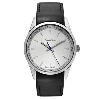 Calvin Klein Men's Bold Stainless Steel Silver Tone Swiss Quartz Watch
