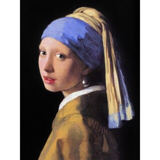 Handmade Girl with a Pearl Earring by Vermeer Wall Art (china)
