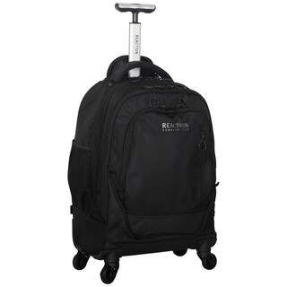 Kenneth Cole Reaction Multi-compartment 1680D Polyester 4-wheel Spinner 17-inch Laptop Business Backpack (2 options available)