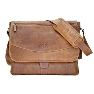 MacCase Premium Leather Large Messenger Bag