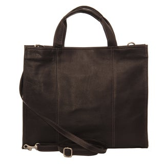 Piel Leather Red Carry-All Tote Bag