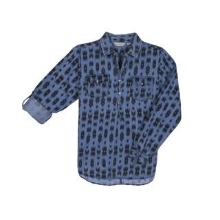 River & Rose Ladies Cotton Lyocell Ikat Printed Shirt