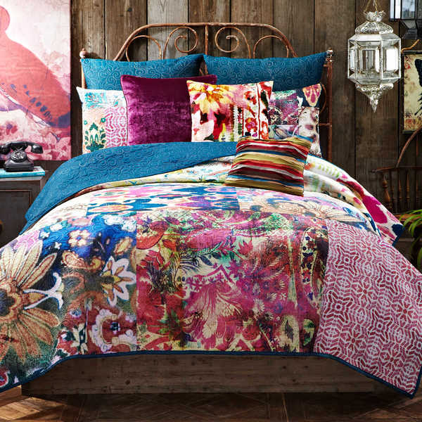 Tracy Porter Leandre Abstract Floral Cotton Voile Printed Quilt