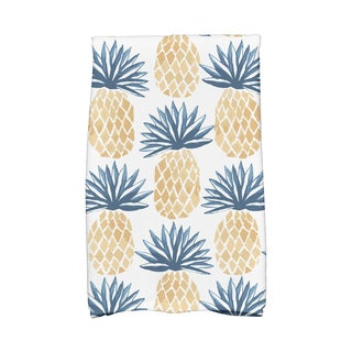 Pineapple Stripes Geometric Print Kitchen Towels