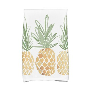 3 Pineapples Geometric Print Kitchen Towels