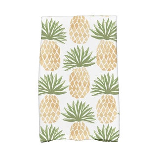 Tossed Pineapple Geometric Print Kitchen Towels