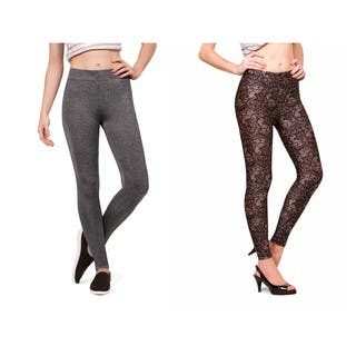 Bluberry Women's Leggings (Pack of 2) Many Colors https://ak1.ostkcdn.com/images/products/15634986/P22066301.jpg?impolicy=medium