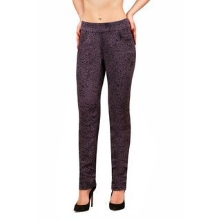 Bluberry Women's Jans Black Grey Design Slim Leg Denim (3 options available)