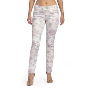 Bluberry Women's Cariana Pink Floral Ankle Length Denim (Option: 28 Inch)|https://ak1.ostkcdn.com/images/products/15634997/P22066311.jpg?impolicy=medium
