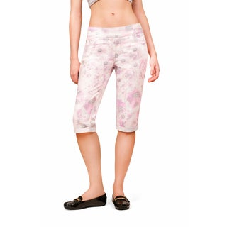 Bluberry Women's Carley Pink Floral Bermuda Pant
