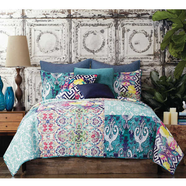 Tracy Porter Florabella Abstract 100% Cotton Voile Printed Quilt