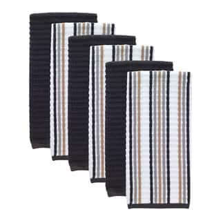 T-fal Textiles 6 Pack Solid & Stripe Waffle Terry Kitchen Dish Towel Set|https://ak1.ostkcdn.com/images/products/15635005/P22066413.jpg?impolicy=medium