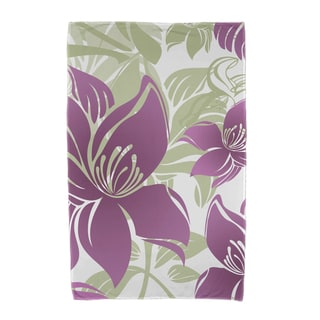 Tree Mallow Floral Print Beach Towels