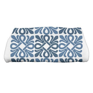 Tiki Square Geometric Print Bath Towel