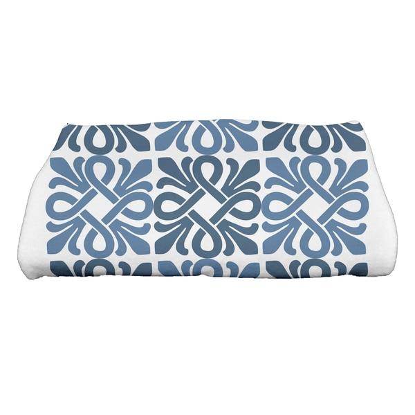 Tiki Square Geometric Print Bath Towel