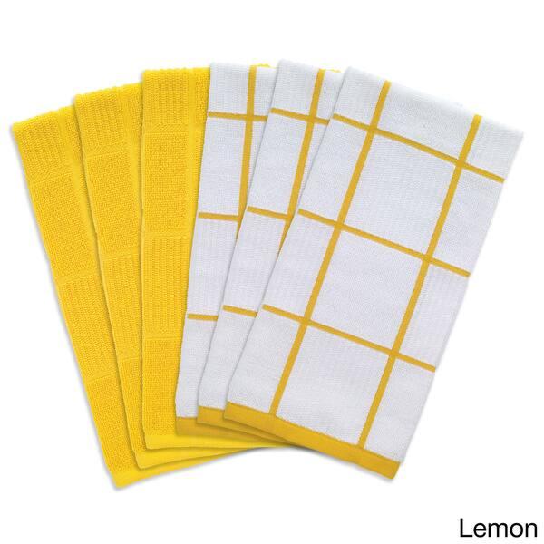 Shop T-Fal Textiles 6-piece Solid and Check Parquet Cotton ...