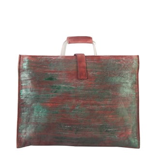 Diophy Genuine Leather Color Intrigue Large Briefcase Style Handbag