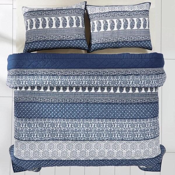 Ceylon Indigo Cotton Quilt (Shams Not Included)